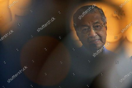 A former Malaysia Prime Minister Mahathir Mohammad speaks to the media during a press conference in Kuala Lumpur, Malaysia, 01 March 2020. The Yang di-Pertuan Agong, the ruling monarch of Malaysia, Abdullah of Pahang appointed Muhyiddin Yassin as the country's new premier on 29 February 2020, following the resignation of his predecessor, 94-year-old Mahathir Mohamad, a week earlier.