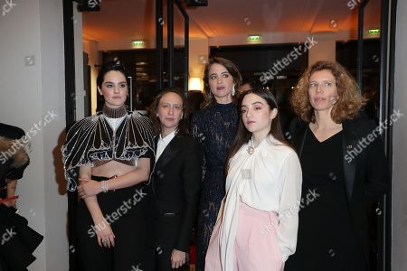 Noemie Merlant, Celine Sciamma, Adele Haenel and movie team