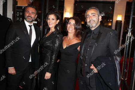 Olivier Nakache and his wife, Eric Toledano and his wife