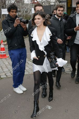 Editorial photo of Balmain show, Arrivals, Fall Winter 2020, Paris Fashion Week, France - 28 Feb 2020