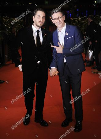 Stock Image of Luca Marinelli and Michel Hazanavicius