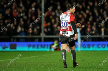 "Danny Cipriani and the Gloucester rugby team wore their rugby shirts with the words ""Be Kind"" for tonight's game against Sale Sharls. Premiership Rugby's governing body gave the go-ahead for the kit change to support measures to improve mental health in light of the death of Caroline Flack.