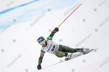 Ted Ligety of the US in action during the men's Super G for the Alpine Combined race of the FIS Alpine Skiing World Cup in Hinterstoder, Austria, 01 March 2020.