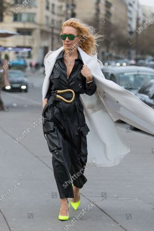 Editorial image of Street Style, Fall Winter 2020, Paris Fashion Week, France - 29 Feb 2020