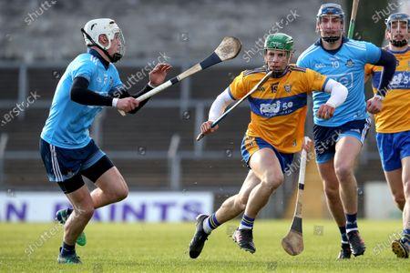 Clare vs Dublin. Dublin's Alex O'Neill and Ian Galvin of Clare