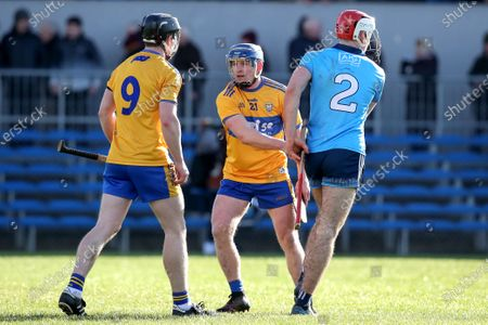 Stock Image of Clare vs Dublin. Clare's Podge Collins and Paddy Smyth shake hands after the game
