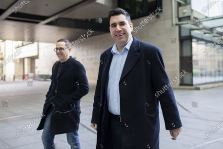 Stock Picture of Labour Party deputy leadership candidate Richard Burgon arrives at the BBC. Later he will appear on the Andrew Marr Show.