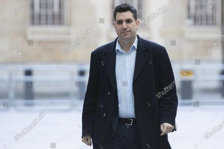 Labour Party deputy leadership candidate Richard Burgon arrives at the BBC. Later he will appear on the Andrew Marr Show.