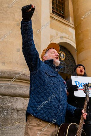 Editorial photo of Bernie Sanders election rally at Oxford University, UK - 01 Mar 2020