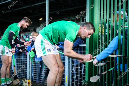 Limerick vs Westmeath. Morrissey brothers Tom and Dan with fans after the match