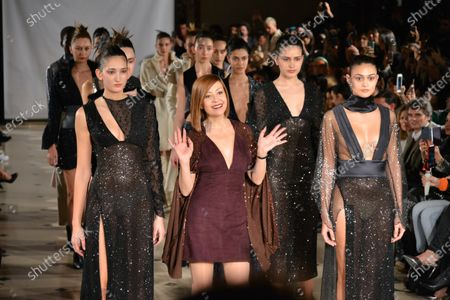 Stock Photo of Fatima Lopes and models on the catwalk