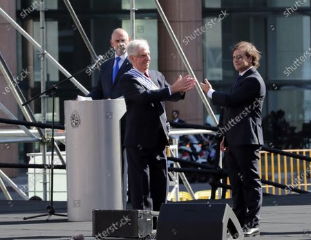 Outgoing president of Uruguay, Tabare Vazquez (L), attends the transfer of command ceremony to Luis Lacalle Pou (R), in Montevideo, Uruguay, 01 March 2020. Lacalle Pou swore the position before the General Assembly for the period 2020-2025.