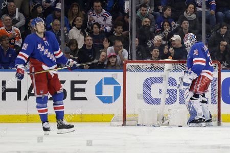 Editorial picture of Flyers Rangers Hockey, New York, USA - 01 Mar 2020