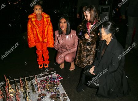 Kim Kardashian West, North West, Kourtney Kardashian and Penelope Disick