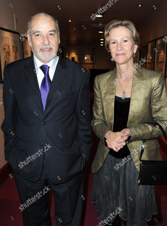Tahar Ben Jelloun and his wife Amine Ben Jelloun