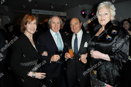 Stock Image of Lady Helen Stewart, Sir Jackie Stewart, Arnold Crook and Jeanne Mandry