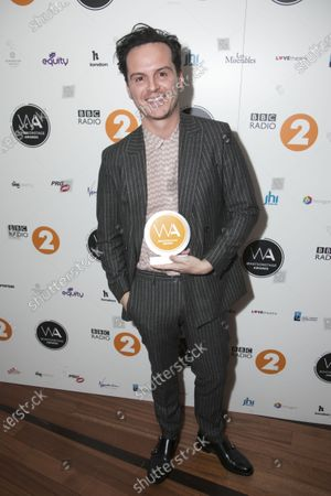 Andrew Scott accepts the award for Best Actor in a Play