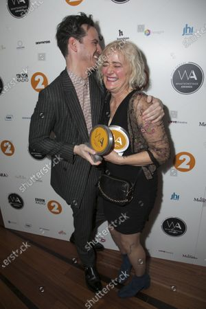 Stock Picture of Andrew Scott accepts the award for Best Actor in a Play and Sophie Thompson accepts the award for Best Supporting Actress in a Play
