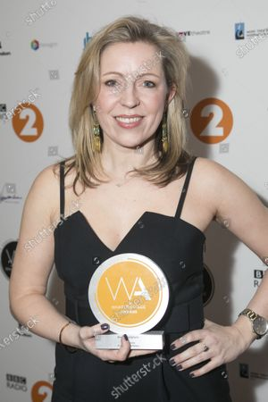 Stock Photo of Kirsty Malpass accepts the award for Best Choreography on behalf of Kelly Devine