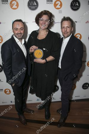 Stock Photo of Chris Stafford, Fiona Allan and Nikolai Foster accept the award for Best Regional Production