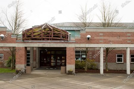 An exterior view of Henry M. Jackson High School where a case of community infection occurred, in Mill Creek, Washington, USA, 01 March 2020. Governor Jay Inslee of Washington state declared a state of emergency in response to the nation's first fatality from COVID-19 coronavirus and the rising number of cases. He directed state agencies to use all resources necessary to prepare for and respond to the outbreak.