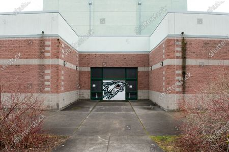 Stock Picture of An exterior view of Henry M. Jackson High School where a case of community infection occurred, in Mill Creek, Washington, USA, 01 March 2020. Governor Jay Inslee of Washington state declared a state of emergency in response to the nation's first fatality from COVID-19 coronavirus and the rising number of cases. He directed state agencies to use all resources necessary to prepare for and respond to the outbreak.