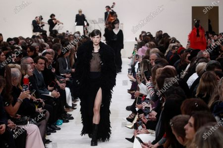 Models present creations from the Fall/Winter 2020/21 women's collection by Italian designer Pier Paolo Piccioli for the Valentino fashion house during the Paris Fashion Week, in Paris, France, 01 March 2020. The Fall-Winter 2020/21 women's collection runs from 24 February to 03 March 2020.