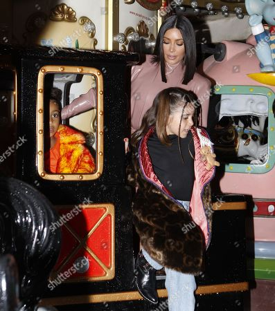 Kim Kardashian West, North West and Penelope Disick