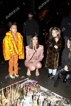 North West, Kim Kardashian West, Penelope Disick and Kourtney Kardashian