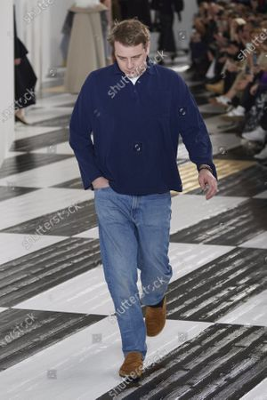 Jonathan Anderson on the catwalk