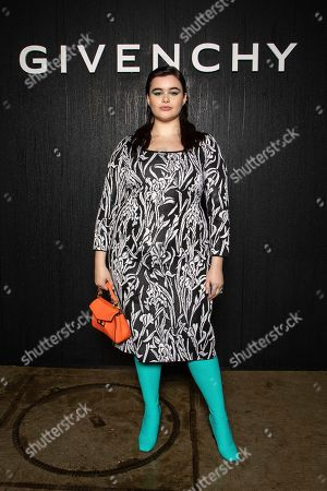 Stock Picture of Barbie Ferreira poses for photographers ahead of the Givenchy fashion collection during Women's fashion week Fall/Winter 2020/21 presented in Paris