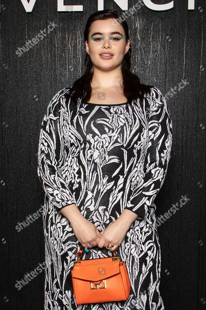 Barbie Ferreira poses for photographers ahead of the Givenchy fashion collection during Women's fashion week Fall/Winter 2020/21 presented in Paris