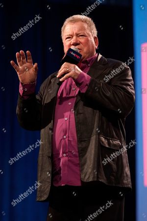 William Shatner participates on day 3 during the 'William Shatner Spotlight' panel at C2E2 at McCormick Place on in Chicago