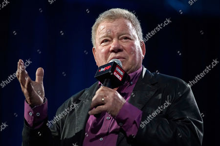 Stock Image of William Shatner participates on day 3 during the 'William Shatner Spotlight' panel at C2E2 at McCormick Place on in Chicago