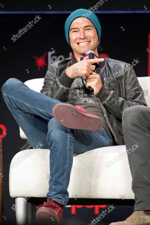 Antony Starr participates on day 3 during 'The Boys Cast Q&A' panel at C2E2 at McCormick Place on in Chicago