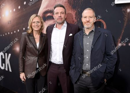 Ann Sarnoff, Chairwoman and CEO, Warner Bros., Ben Affleck and Toby Emmerich, Chairman, Warner Bros. Pictures Group