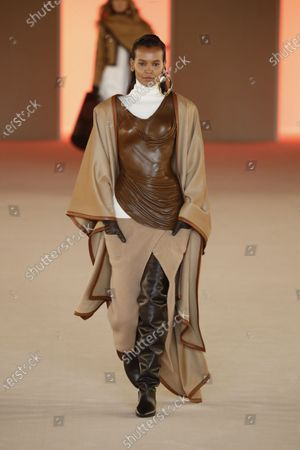 Stock Photo of Liya Kebede on the catwalk