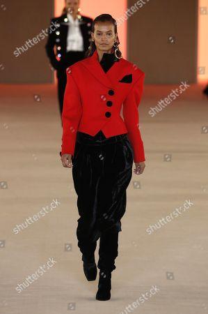 Liya Kebede on the catwalk
