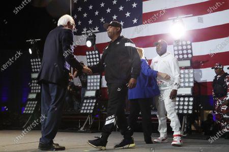 Bernie Sanders and Chuck D of Public Enemy