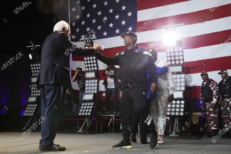 Editorial picture of Bernie Sanders, US Presidential Election Campaigning, Los Angeles Convention Center, USA - 01 Mar 2020