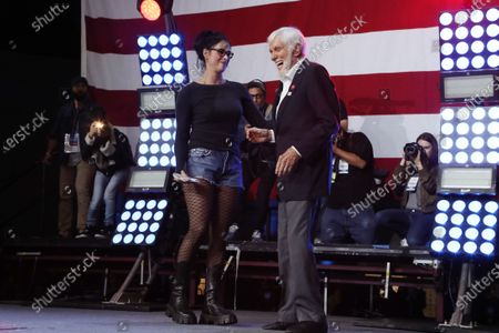 Stock Picture of Sarah Silverman and Dick Van Dyke