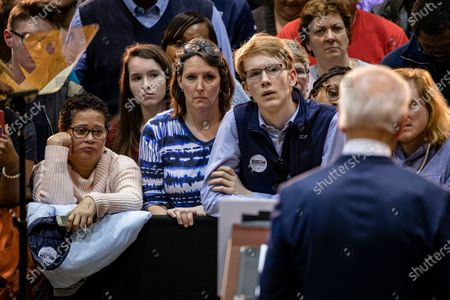 Supporters listen as US Democratic presidential candidate Joe Biden speak about the loss of his son, Beau Biden, to brain cancer during a campaign rally at Booker T. Washington High School in Norfolk, Virginia, USA, 01 March 2020. Biden won the South Carolina Democratic Primary on 29 February.