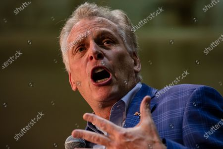 Former Virginia Governor Terry McAuliffe hypes up the crowd for US Democratic presidential candidate Joe Biden during a campaign rally at Booker T. Washington High School in Norfolk, VA, USA, 1 March 2020. Biden is coming off of a major win in the South Carolina Democratic Primary and is hoping to keep the momentum going in Virginia on Super Tuesday where voters will cast their ballots with 13 other states.