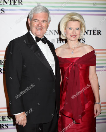 Stock Picture of Newt Gingrich and wife Callista Bisek