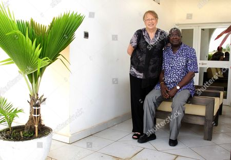 Kofi Yamgnane and wife Anne Marie at home in Lome