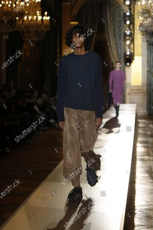 Editorial picture of Andreas Kronthaler for Vivienne Westwood show, Runway, Fall Winter 2020, Paris Fashion Week, France - 29 Feb 2020