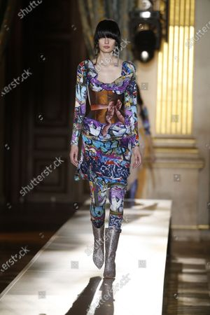 Editorial photo of Andreas Kronthaler for Vivienne Westwood show, Runway, Fall Winter 2020, Paris Fashion Week, France - 29 Feb 2020