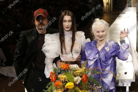 Stock Photo of Andreas Kronthaler, Bella Hadid, Vivienne Westwood on the catwalk