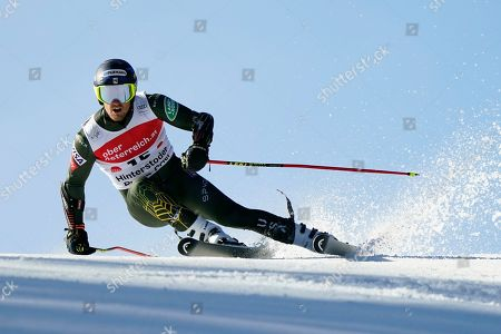 United States' Ted Ligety competes in an alpine ski, men's World Cup giant slalom, in Hinterstoder, Austria