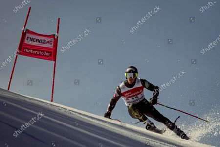 Ted Ligety of the USA in action during the first run of the men's Giant Slalom race of the FIS Alpine Skiing World Cup in Hinterstoder, Austria, 02 March 2020.